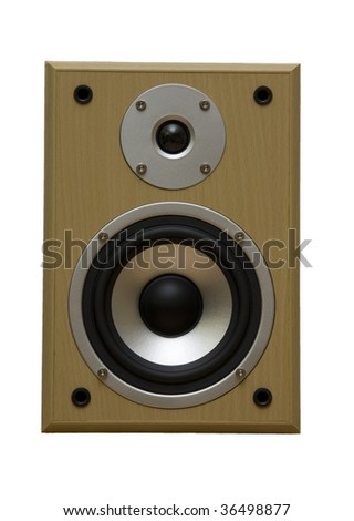 Hi end speakers isolated on white, clipping path