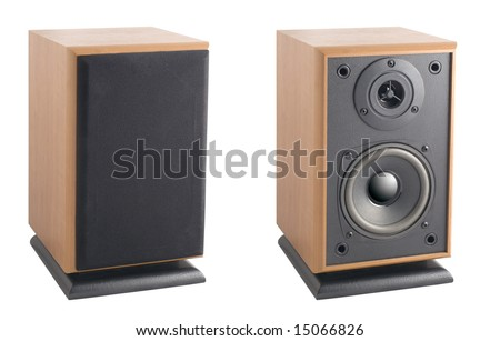 Hi-End Stereo Acoustic system (With Clipping Path) - stock photo