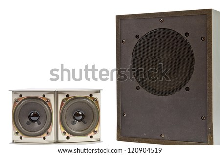 Hi fi home speakers of the sound system - stock photo