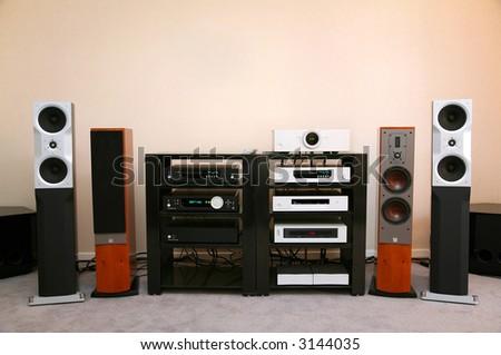 hi-fi music 2 - stock photo