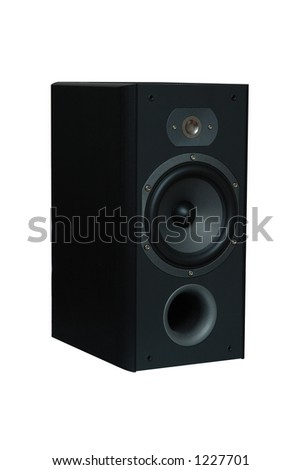Hi-Fi Speaker isolated on the white background - stock photo