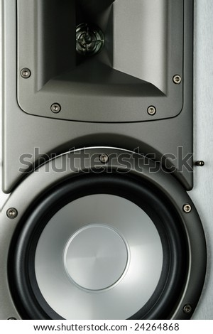 Hi-Fi speaker system close up