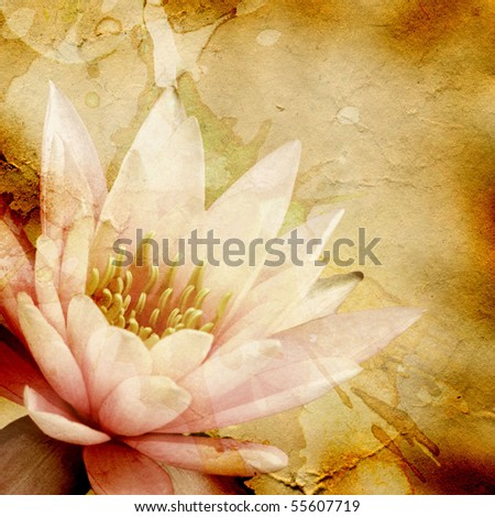 hi-res abstract grunge background with floral pattern