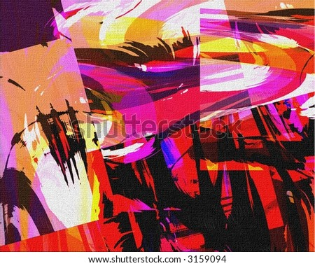 Hi-Res Abstract Painting - stock photo