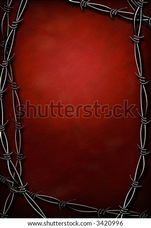 Hi-Res Barbed Wire Grunge - stock photo