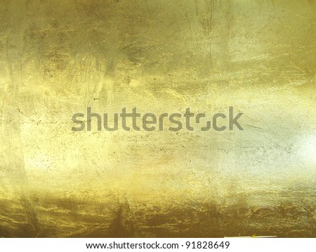 hi-res gold grunge background - stock photo