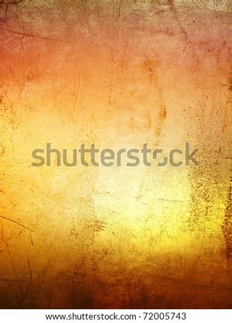 hi-res gold grunge background, raster illustration - stock photo