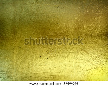 hi-res golden grunge background - stock photo