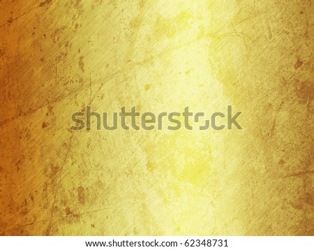 hi-res golden grunge background, raster illustration - stock photo