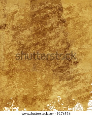 Hi-Res grunge textured Paper - parchment background. Ink blots and paper texture are visible.