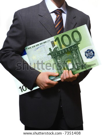 hi res image of business man with eur