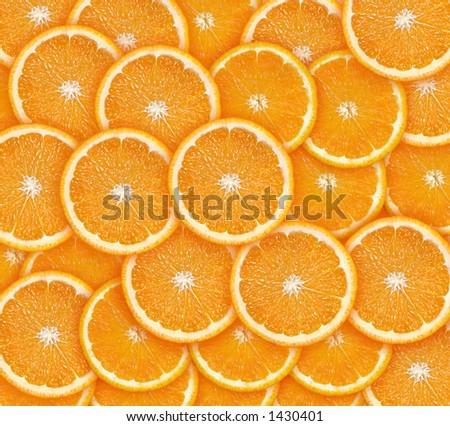 Hi res orange slices background - stock photo