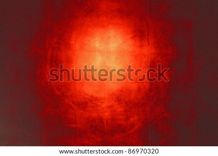 Hi-res red wall background with reflection - stock photo
