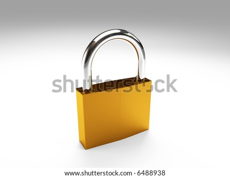 Hi res rendering of padlock