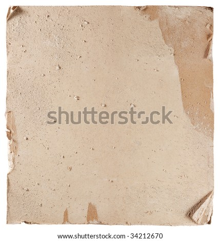 Hi-res texture of damaged plasterboard - stock photo