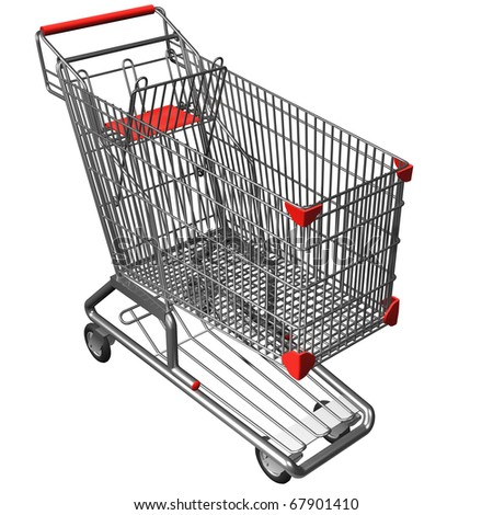 Hi resolution of Shopping cart isolated on white background