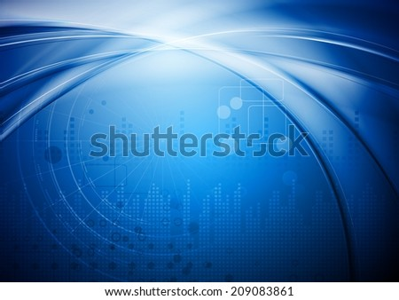 Hi-tech abstract background - stock photo