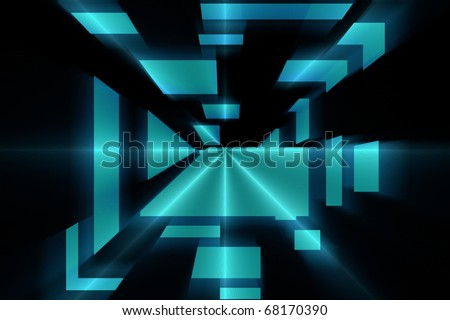 hi tech abstract background composition - stock photo