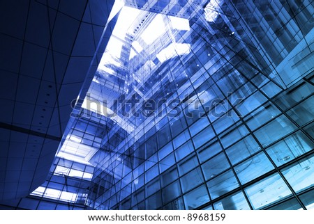Hi-Tech Abstract Futuristic architectural Background. Great as a background or a design element. - stock photo