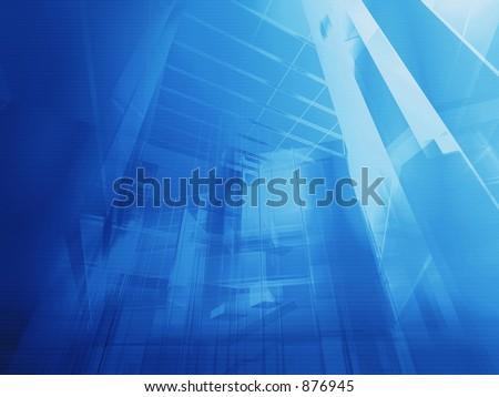 Hi-tech architecture - backdrop. - stock photo