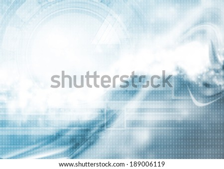 Hi-tech blue abstract wavy background