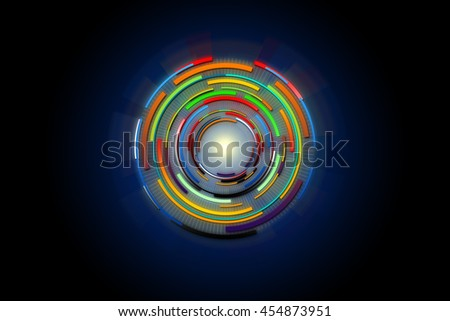Hi tech circle technology of power concept. Abstract future digital science technology concept.