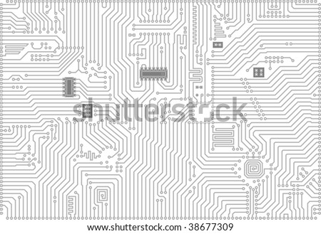 Hi-tech gray and white industrial electronic background