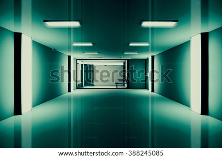 Hi-Tech Lockup Prison Cell 3D Illustration