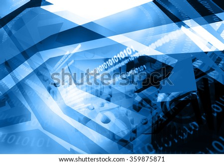 Hi-tech technological background	 - stock photo