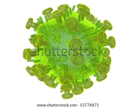 HI Virus - stock photo