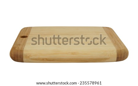 hick brown cutting board isolated on white background
