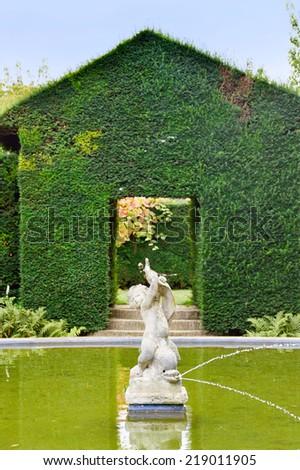 hidcote manor gardens - stock photo