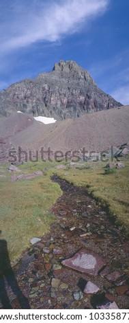 Hidden Lake at Glacier National Park, Montana - stock photo