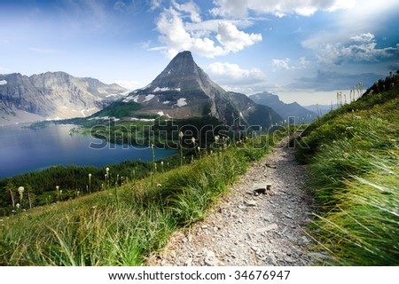 Hidden Lake Trail - stock photo