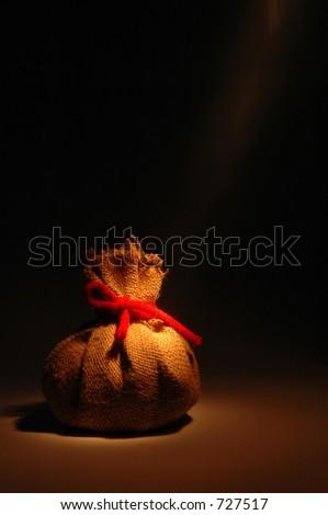 hidden pouch - stock photo
