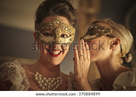 Hidden secrets at the party - stock photo