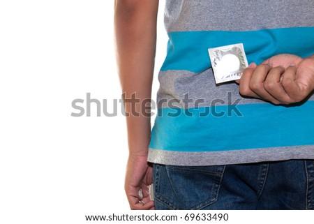 hide condom - stock photo