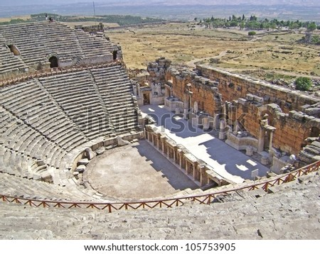 Hierapolis amphitheater - stock photo