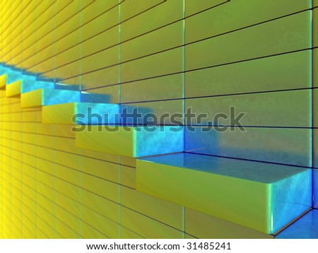 hierarchical ladder leads up? or,,,, - stock photo