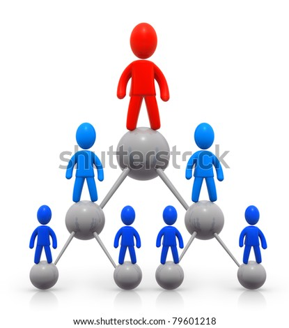 Hierarchy - stock photo