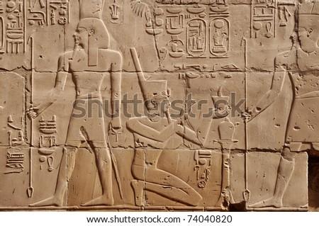 Hieroglyphs - stock photo