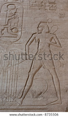 Hieroglypics on Temple of Rameses II