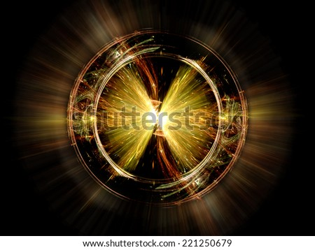 Higgs boson particle, computer generated abstract background - stock photo