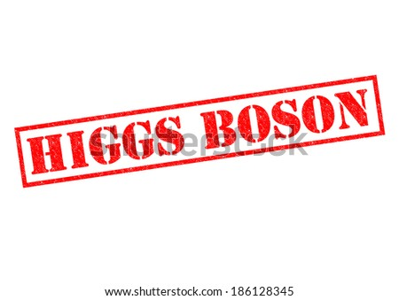 HIGGS BOSON red Rubber Stamp over a white background. - stock photo