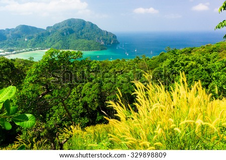 High Above Scenic  Holidays  - stock photo