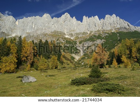High alpine mountain landscape.