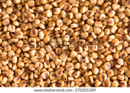 High Angle Full Frame View of Toasted Salted Corn Nuts Snack Ideal for Backgrounds