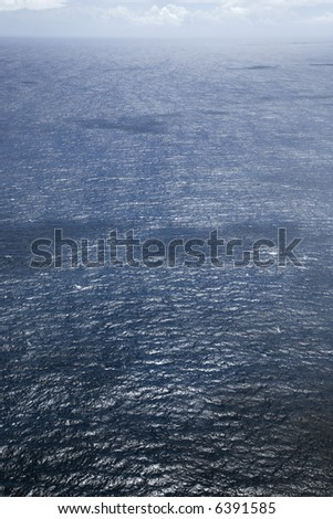 High angle view of ocean water. - stock photo