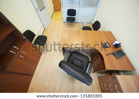 High angle view of office cabinet - stock photo