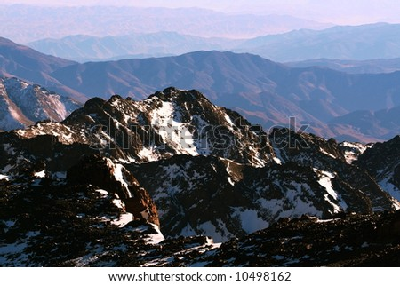 High Atlas mountains - stock photo